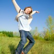 Happy dancing boy — Stock Photo