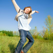 Happy dancing boy - Foto Stock