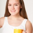 Girl with Cup — Stock Photo #4712721
