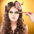 Foto Stock: Make-up