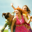 Mom and two Daughter Having Fun — Stock Photo #4713161