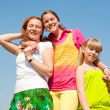 Mother and two daughter fun — Stock Photo