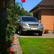 Stock Photo: Lexux RX 350 parked in yard