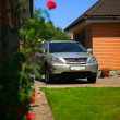 Lexux RX 350 parked in the yard - Stock Photo