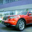 Red Infiniti FX35 — Stock Photo