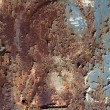 Rusty metal surface texture close up photo — Stock Photo #4713434