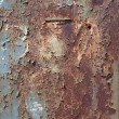 Rusty metal surface texture close up photo — ストック写真