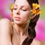 Retrato mujer joven hermosa — Foto de Stock