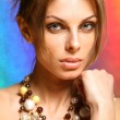 Portrait young woman with beads — Stock Photo #4713809