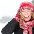 Woman with Snow — Stock Photo