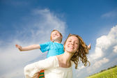 Mother and Son Having Fun — Foto Stock