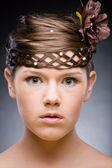 Hairstyle. Focus on eyes — Stock Photo