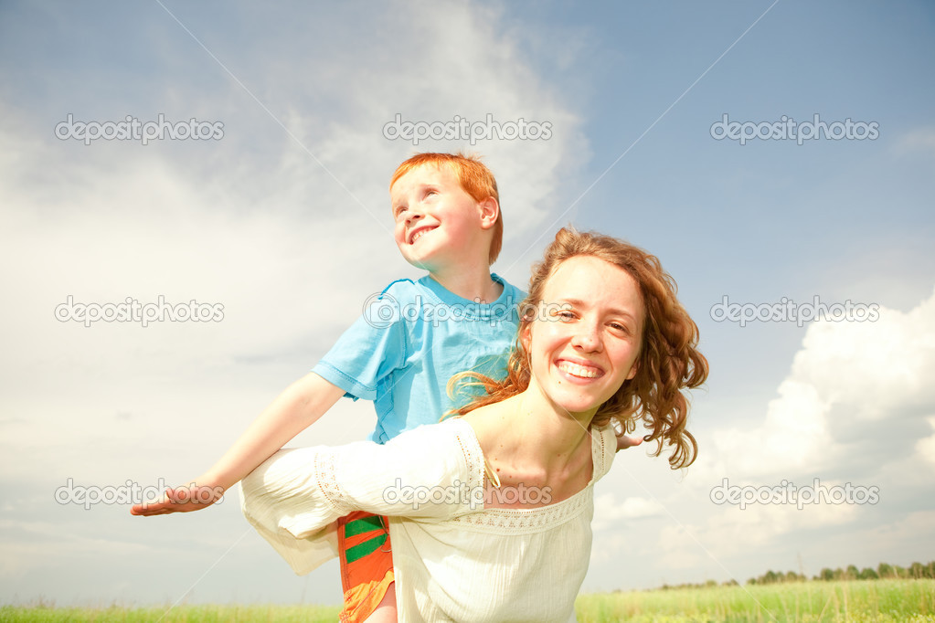 Mother and Son Having Fun — Stock Photo #4710889