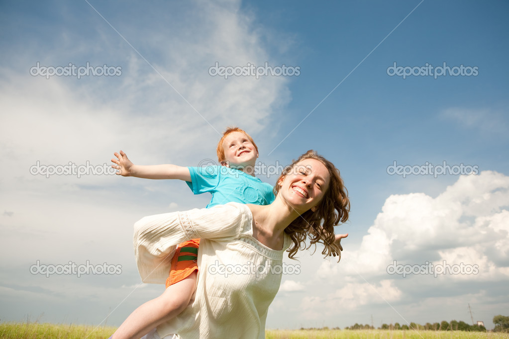 Mother and Son Having Fun  Stock Photo #4710896