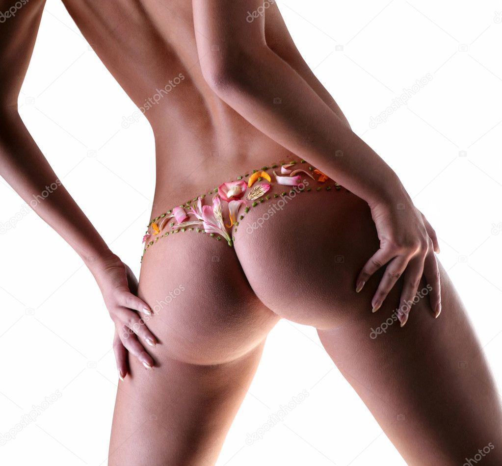 Girl with a flower underwear — Stock Photo #4711788