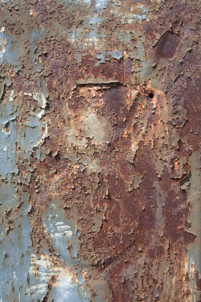 Rusty metal surface texture close up photo  Stock Photo #4713436