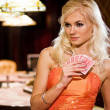 Women in casino - Stock Photo