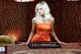 Women in casino — Stock Photo