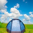 Bright tourist tent - Stock Photo
