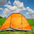 Bright tourist tent — Stock Photo