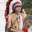 North American Indian in full dress. — Stock Photo #3402735
