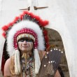 North American Indian in full dress. — Stock Photo #3402764
