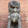 Stone Chinese lion — Stock fotografie