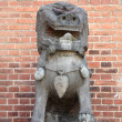 Stock Photo: Stone Chinese lion