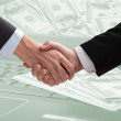 Stock Photo: Business hand shake