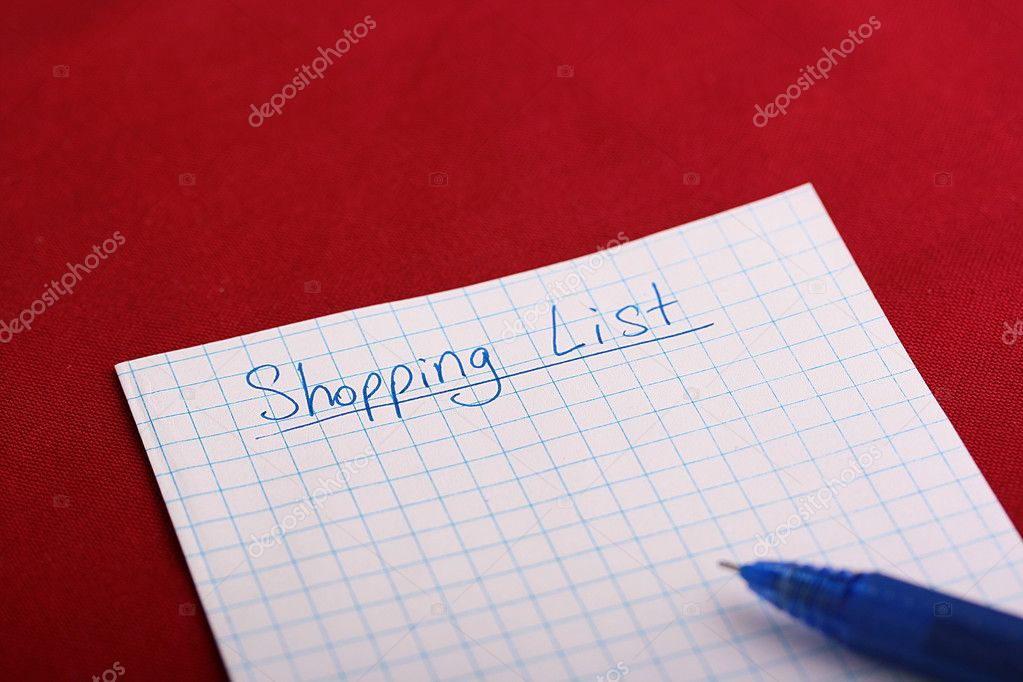 Preparation for a trip to shop begins with the list. — Stock Photo #2866240