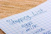 Shoping list — Stock Photo