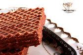 Oplatky v čokoládě — Stock fotografie