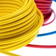 Yellow wire - Stock Photo