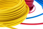 Yellow wire — Stock Photo