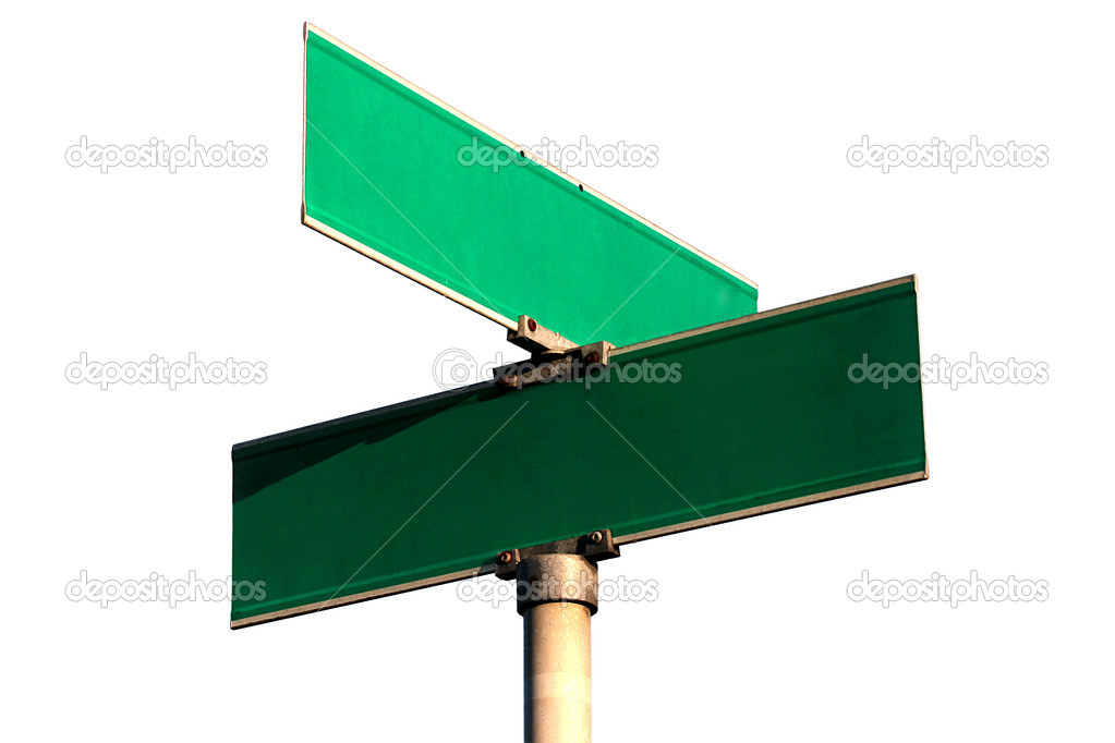 Pure guide sign of crossing of streets against the white background. — Stock Photo #3078181
