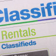 Stock Photo: Classifieds newspaper