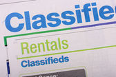 Classifieds newspaper — Stock Photo