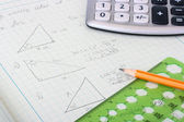 Geometrical calculations — Stock Photo