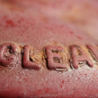 Stock Photo: Stamping Clean
