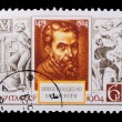 Russia - CIRCA 1964: A stamp Michelangelo — Stock Photo