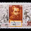 Russia - CIRCA 1964: A stamp Michelangelo - Stock Photo