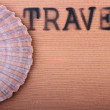 Stock Photo: Hot stamping Travel