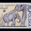 Poland - CIRCA 1978: A stamp elephant — Stock Photo