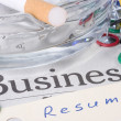 Stock Photo: Business Resume
