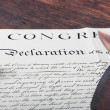 Declaration — Stock Photo
