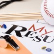 Baseball resume — Stock Photo