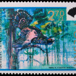Poland - CIRCA 1973: A stamp black grouse - Stock Photo