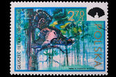 Poland - CIRCA 1973: A stamp black grouse — Stock Photo