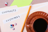 Customers and contracts — Stock Photo