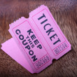 Tickets with the coupons — Stock Photo